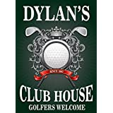 Personalized Metal Bar Man Cave Wall Sign with Man Cave Golf Club House perfect gift for Bestman, Groomsmen gift Him