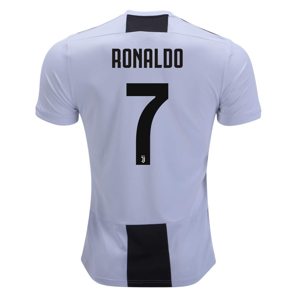 dddff83a8 Amazon.com   The brown squirrel Ronaldo Juventus 2018 2019 Home Soccer  Jersey Men s Color Black White Size L   Sports   Outdoors