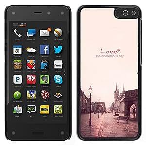 Dragon Case - FOR Amazon Fire Phone - the anonymous city - Caja protectora de pl??stico duro de la cubierta Dise?¡Ào Slim Fit