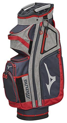 (Mizuno 2018 BR-D4C Cart Golf Bag, Grey/Red)