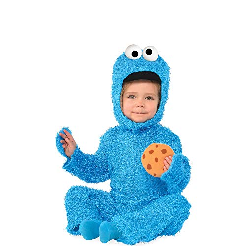 Suit Yourself Cookie Monster Halloween Costume for Babies, Sesame Street, 0-6M, with Accessories ()