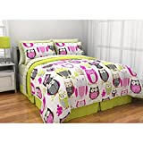 Latitude Sketchy Owl Reversible Bed in a Bag Bedding Set - QUEEN