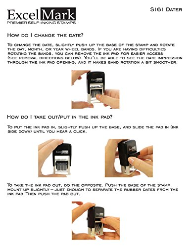 ExcelMark Emailed Date Stamp - Compact Size (Black Ink) Photo #6