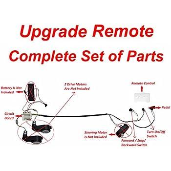 e fast kids electric cars 12v diy harness transform complete set of remote  control circuit borad