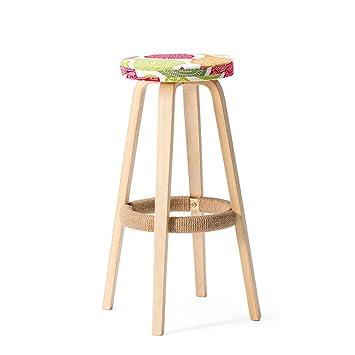 Kitzen (Pegau) Retro Küche Hocker mit natürlichem Holz Beine hohe ...