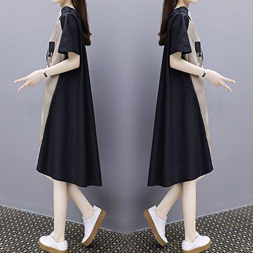 Longueur 2XL Couleur fminin Profond MiGMV Kaki Moyenne Jupe Jupe Un Taille Mot Robe Robes Femme lache Grande 6qawRO8r6