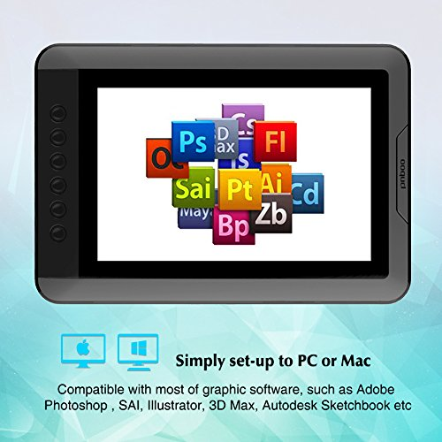 PNBOO PN10 10.1 Inch IPS Graphics Drawing Monitor with Battery-free Passive Pen(Black) by PNBOO (Image #2)