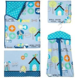 Good Puppy Dog Boy's 6 piece Crib Bedding Set