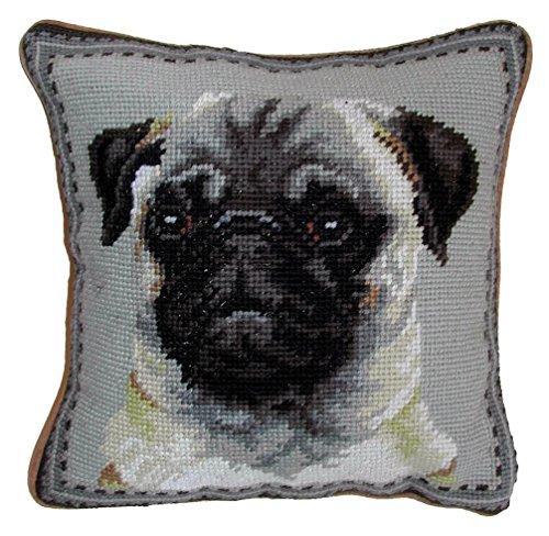 Pug Dog Needlepoint Throw Pillow 10