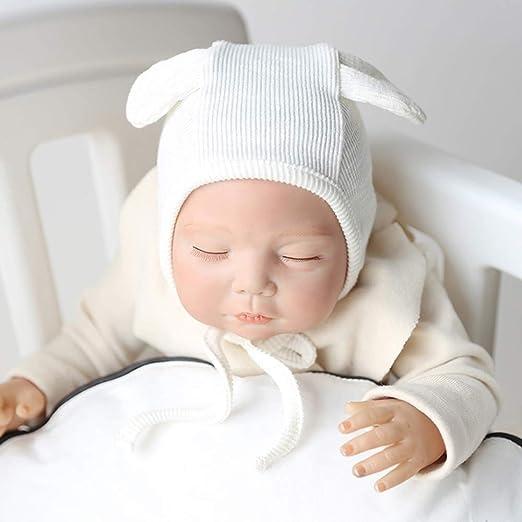 KBKB Gorra de algodón a Prueba de Viento para bebés recién Nacidos, Blanco (3-12 Meses): Amazon.es: Deportes y aire libre