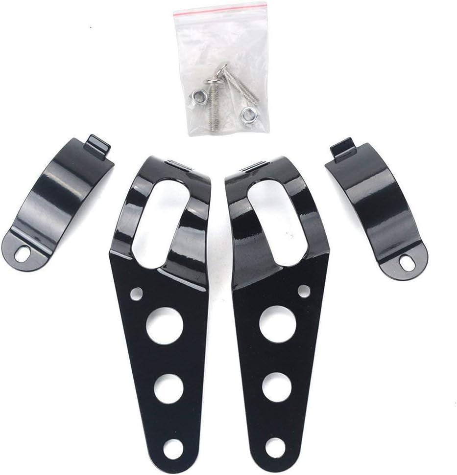 Wuudi Universal-Motorradscheinwerfer-Halterung 43 mm Stahl-D/ämpfung Motorrad-Gabel-Ohren f/ür Scheinwerfer-Installation 35 Zubeh/örteile