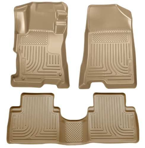 Tan Front Door Floor 4 (Husky Liners Front & 2nd Seat Floor Liners Fits 08-12 Accord 4 Door)
