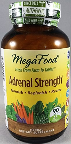MegaFood Adrenal Strength - Herbal Dietary Supplement - 90 Tablets by MegaFood
