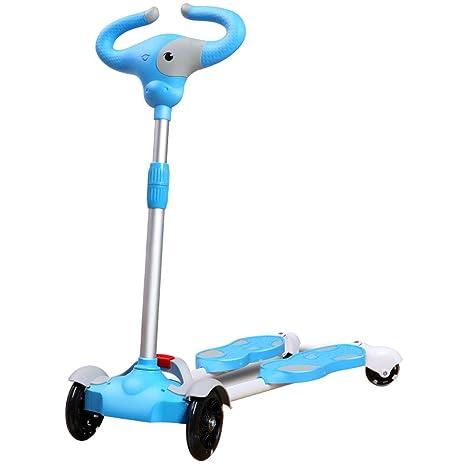 HYE-Patinete Scooter 4 Ruedas de Empuje Oscilación del Meneo ...