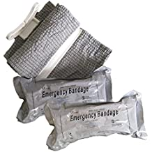 (Twin Pack) Combat Emergency Bandage - First Aid Compression Bandage (4 inch Wide) - Pack of 2