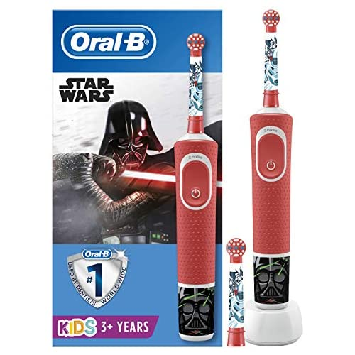chollos oferta descuentos barato Oral B Kids Cepillo Eléctrico Recargable con Tecnología de Braun 1 Mango de Star Wars Apto para Niños Mayores de 3 Años