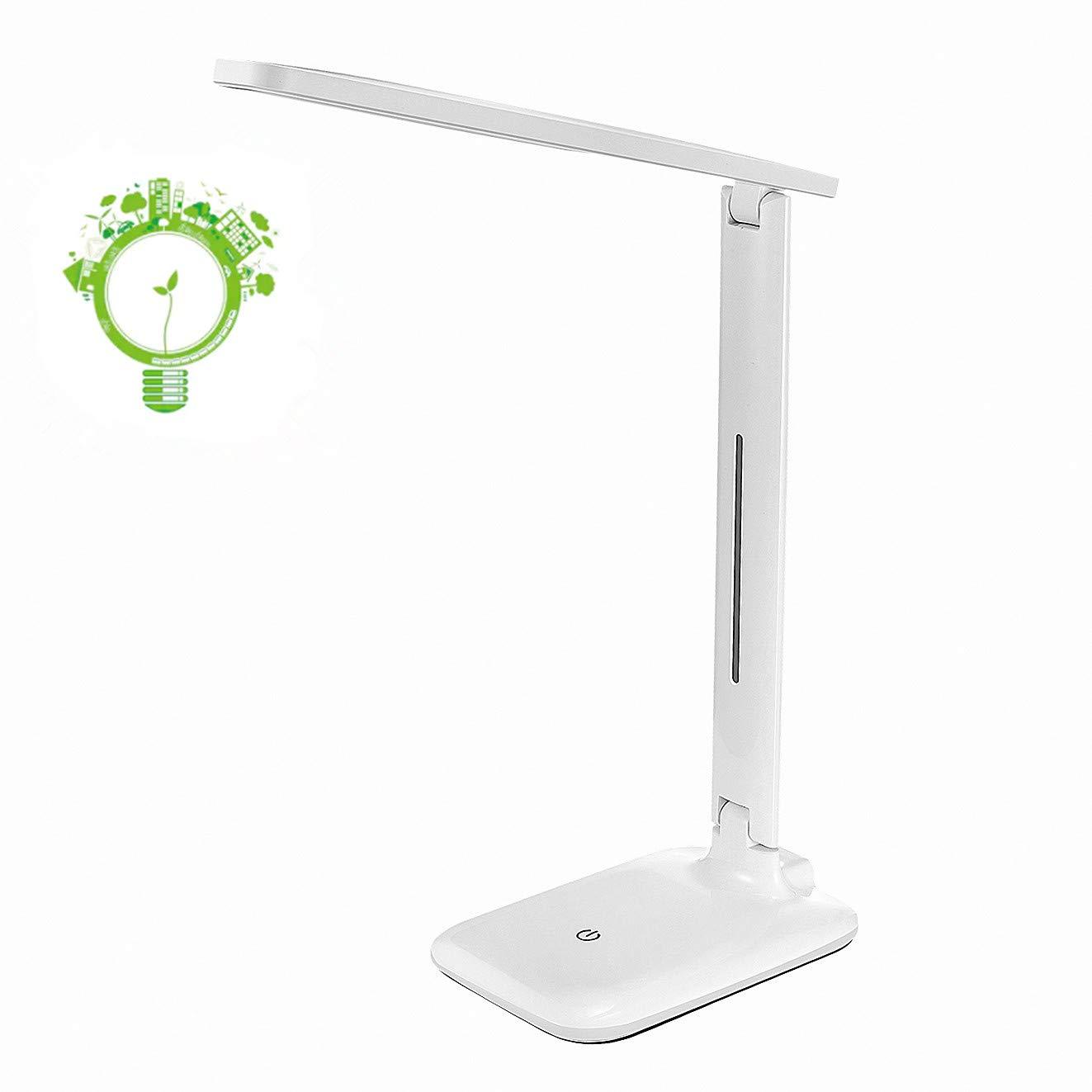 OMORC Lampada da Tavolo Lettura Led con Pinza USB Ricaricabile Tattile Portatile 3 Modalità di Luce Notturna Calda e Bianca