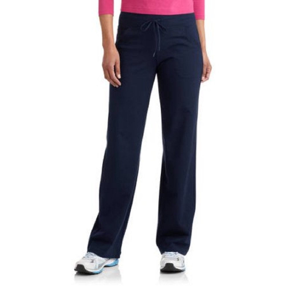 Danskin Now Womens Dri More Petite Relaxed Pants - Yoga, Fitness, Activewear Navy XL