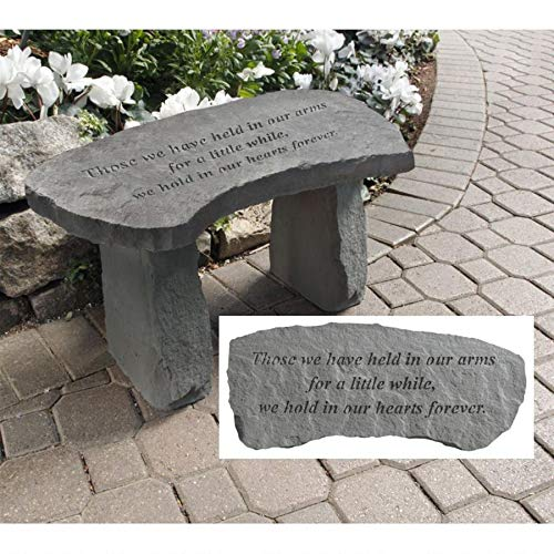 - Design Toscano In Our Hearts Forever Cast Stone Memorial Garden Bench