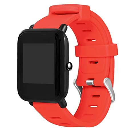 Liqiqi Huami Amazfit Bip - Correa de Repuesto para Reloj Inteligente Juvenil (Silicona),
