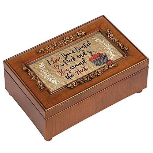 - Love You A Bushel and A Peck Woodgrain Petite Rose Music Box Plays You are My Sunshine