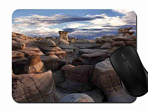 Mouse Pad Gaming Bisti Badlands New Mexico, Premium-Textured Surface, Non-Slip Rubber Base, Laser Optical Mouse Compatible, Mouse mat ()
