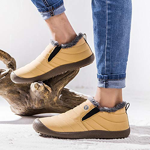 on Boots Boots Anti Full Snow Slip Women Resistant Winter Slip Yellow Ankle Men Fur Water Booties Lightweight t5Owwqczx
