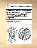 Dissertatio Medica Inauguralis, de Somno, Robert Cleghorn, 117010570X