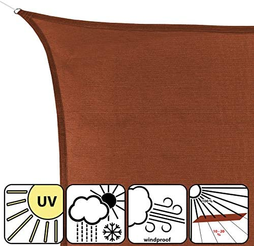 BB Sport Tenda Velo Sole 3.6m x 3.6m x 3.6m Granito Triangolare Vela Sole Ombreggiante 100/% PES Protezione Solare UV 30 Parasole Giardino Esterni