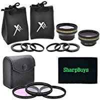 37mm Filter and Lens Combo Package For Sony Handycam Camcorders - PACKAGE INCLUDES: 37mm Pro Series Multi-Coated 3 Piece Digital Filter Kit (UV-CPL-FLD) Filters, 37mm 0.43X HD Wide Angle & 2.2X HD Telephoto Lenses With Case & Pouches