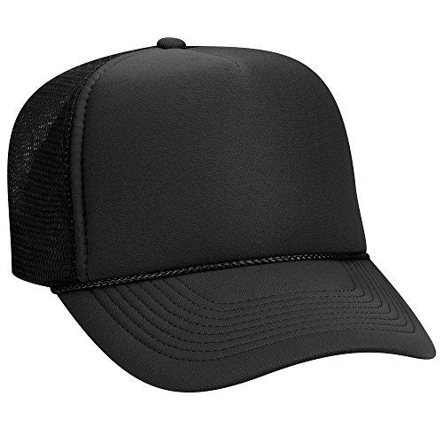 Otto Polyester Foam Front 5 Panel Pro Style Mesh Back Trucker Hat - (Foam Mesh Hats)