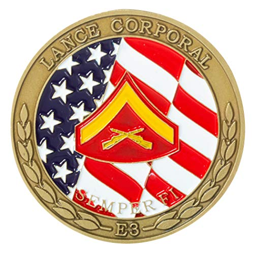 (United States Marine Corps Lance Corporal Junior Enlisted Rank Challenge Coin)