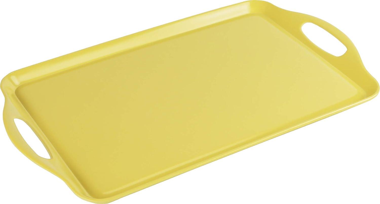 Calypso Basics by Reston Lloyd Melamine Rectangular Tray, Lemon