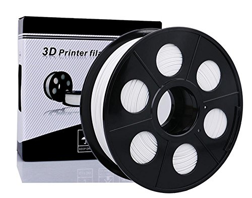 NOVESTE 3D Printer Filament ABS 1.75mm, 0.02 mm, 2.2lbs 1KG White with Spool