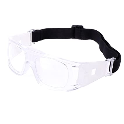 8fa4c287a9a Amazon.com  ULKEME Sport Eyewear Protective Goggles Glasses Safe Basketball  Soccer Football Cycling (Transparent)  Musical Instruments