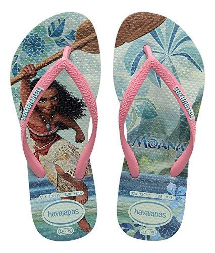 0fe2c4733fe4 Havaianas Printed Flip Flops Girls Moana  Amazon.co.uk  Shoes   Bags
