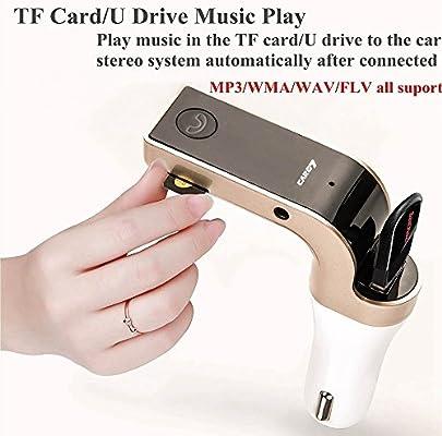 Bluetooth coche FM transmisor, bevifi inalámbrico coche MP3 Player ...