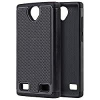 Dream Wireless Cell Phone Case for ZTE Z MAX 2 - BLACK TPU + BLACK PC