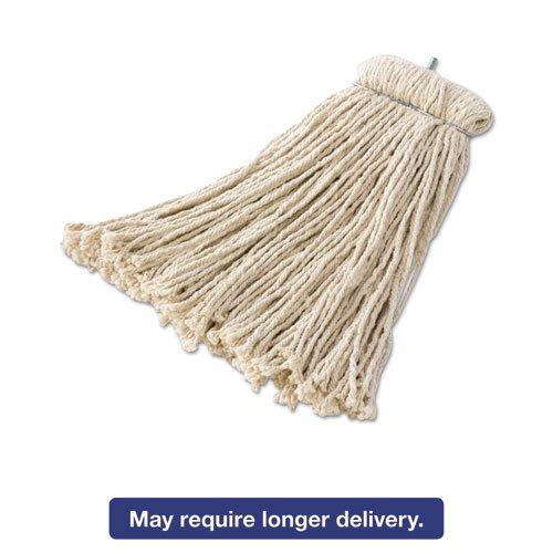 F169 Premium Bolt-On Cut-End Cotton Mop -- 12 Per Case. by Rubbermaid