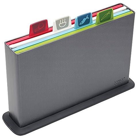 Joseph Joseph 60065 Index Cutting Board Set with Storage Case Plastic Color Coded Dishwasher-Safe, Small, (Joseph Joseph Tagliere)