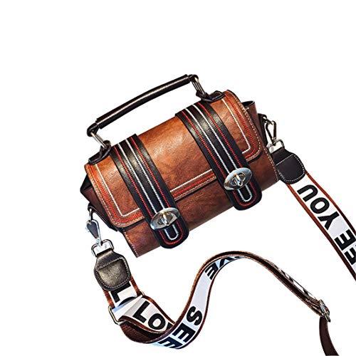 Mode Simple corps Croix Bags Bandoulière Femme Sac Sacoche Morning Cuir Petit Brun Chic À Embrayages Besace Shoulder Sacs Hf Élégant Shopping BxWZw5qw