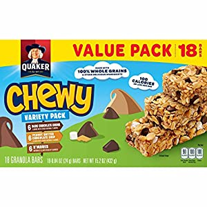 Quaker Chewy Granola Bars Variety Value Pack 18 Bars by Quaker