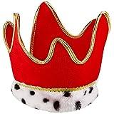 Beistle 60249-R Red Plush Royal Crown