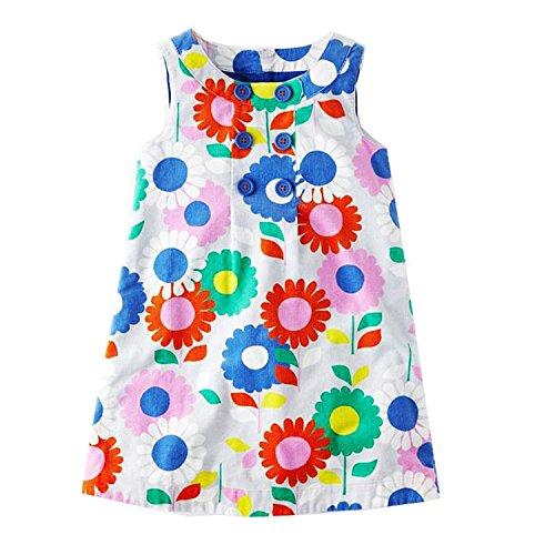 Doris Batchelor Elegant Baby Girls Summer Dress Floral Princess Costume Kids Party Dresses for Girls Clothes Toddler Dress 87 2T ()