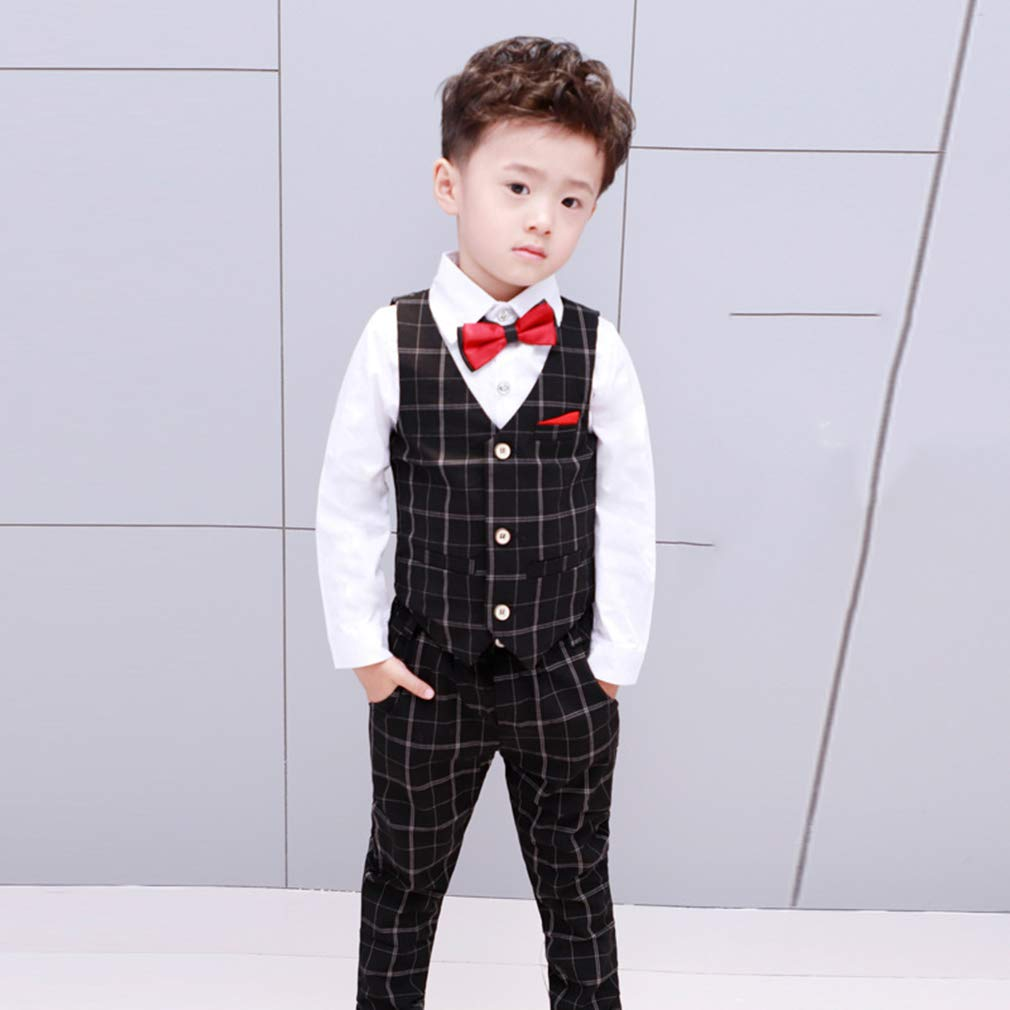 La Vogue 4 Pcs Boys Blazer Suits Wedding Party Page boy Suit Prom Formal Outfit