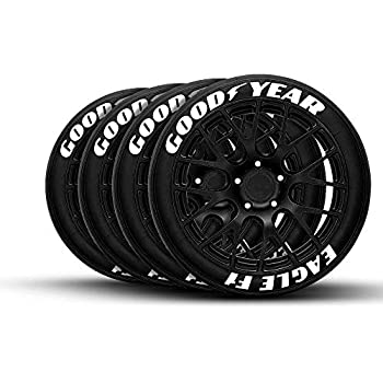 """8 Decal Kit GOODYEAR EAGLE F1-1.00/"""" 17/""""-19/"""" Wheel PERMANENT TIRE LETTERS"""