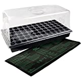 Hydrofarm 7.5 Inch Dome Jump Start CK64060 Hot House with Heat Mat, Tray, 72 Cell Insert, 7.5