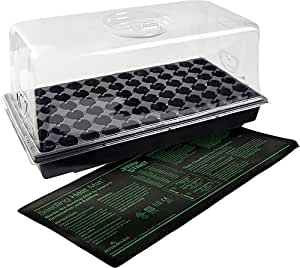 Hydrofarm Jump Start CK64060 Hot House with Heat Mat, Tray, 72 Cell insert, 7.5 Inch Dome