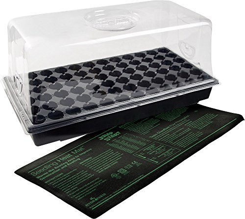 Greenhouse Dome (Jump Start CK64060 Hot House with Heat Mat, Tray, 72 Cell insert, 7.5 Inch Dome)