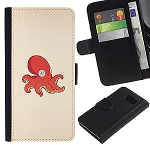 JackGot ( Pulpo Calamar juguete ) Sony Xperia Z3 Compact / Z3 Mini (Not Z3) la tarjeta de Crédito Slots PU Funda de cuero Monedero caso cubierta de piel